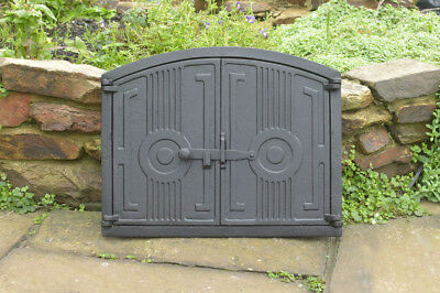 48 x 38 cm cast iron fire door clay / bread oven doors pizza stove fireplace