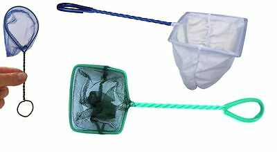 "Aquarium Fish Tank 4"" Fish Net or Goldfish Bowl 3"" Catch Net"
