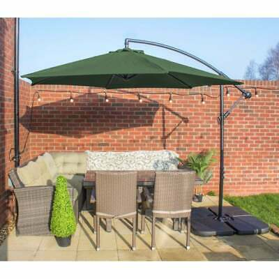 Parasol 3m Freestanding Banana Hanging Cantilever - Garden & Patio Sun Umbrella