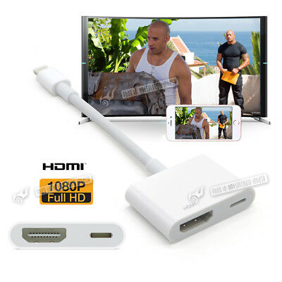 8Pin Lightning to Digital AV Adapter HDMI Cable For iPhone 8 7 6 6S 5S iPad Air