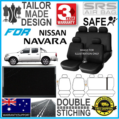 *Tailor Made For Nissan Navara Dual Cab D40 RX ST 2007 Onwards Seat Cover Airbag