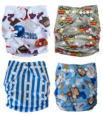 Modern Cloth Nappies (MCN) Trial Pack, Mircrofibre inserts Boy Cloth diaper OSFM