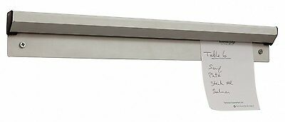 "Aluminium Tab Order Grabber Bill Tickets Waiter Food Pad Wall 18"" Inches"