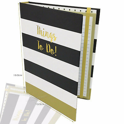 Things To Do Today Book List & Note Pad - Daily Work Office Dairy Stripes Spots