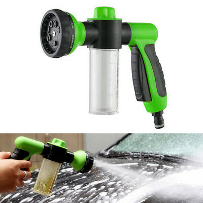 Adjustable 8 in1 Spray Pattern Water Gun&Soap Dispenser Hose Nozzle Car Wash