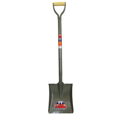 Square Point Mouth Shovel Spade Heavy duty All Steel Handle 105cm Full Length