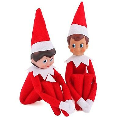 Christmas Plush Gift Elf on The Shelf Plush Dolls One Set (Boy and Girl)