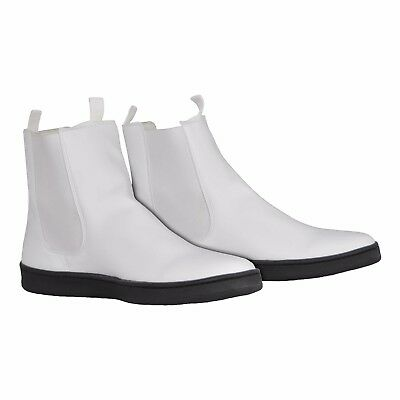 White Ankle Boots with Flat Sole for First Order Stormtrooper Costume - from USA