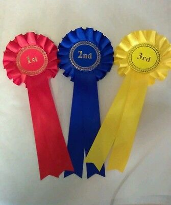 1x1st--3rd 1 tier Beautifull handmade trophy rosettes Great Value
