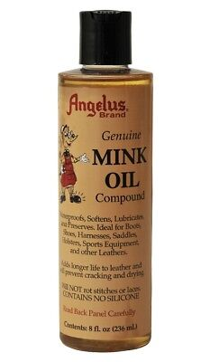 Angelus Mink Oil for Leather Professional Compound Conditioner Waterproof Liquid