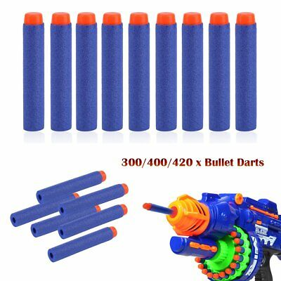 300-420PCS 7cm Soft Nerf Gun Refill Bullets Darts EVA For NERF N-Strike Series