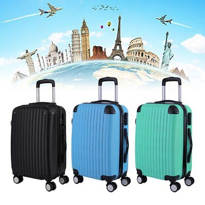 "20"" 24"" 28"" ABS Hard Shell Cabin Suitcase Case Luggage Spinner Lightweight Hot"