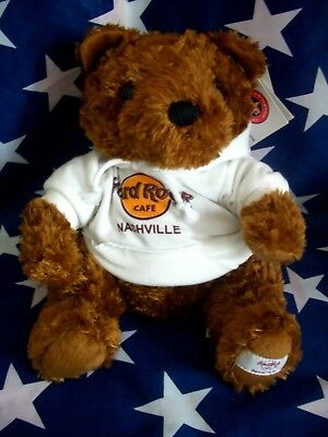 HRC Hard Rock Cafe Nashville Sweater Hoodie Bear 2008 LE Made by Herrington