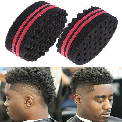 Double Side Wave Barber Hair Curly Brush Curl Sponge Dreads Lock Twist Coil Afro
