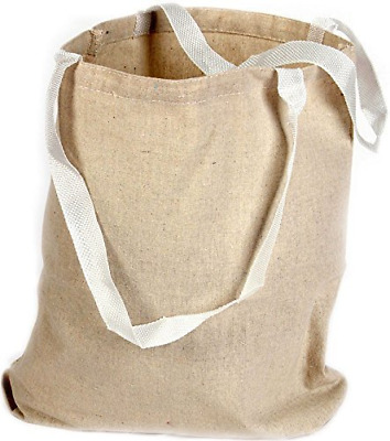 18 Canvas Tote Bags Eco Natural Color Large13X9 Shopping School Blank art-Craft