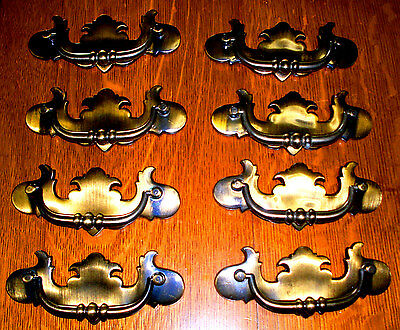 ((# 126 )) (( Set Of 8 ))  Vintage Drawer Pulls, (( Brass Cast ))