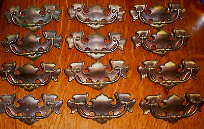 "((# 131 )) (( Set Of 12 Dresser Drawer Pulls, (( 3"" Centers ))"