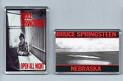 Magnets x 2 : BRUCE SPRINGSTEEN Nebraska / Open All Night