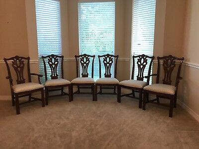 6 Chippendale style dining room chairs