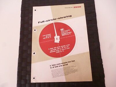 Coles Crane Full Circle Slewing Ref: 2508 Leaflet/pamphlet *as Pictures*