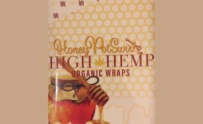 High Hemp Honey Pot Swirl Herbal Organic Vegan Wraps GMO Free 25 pouch 50 total