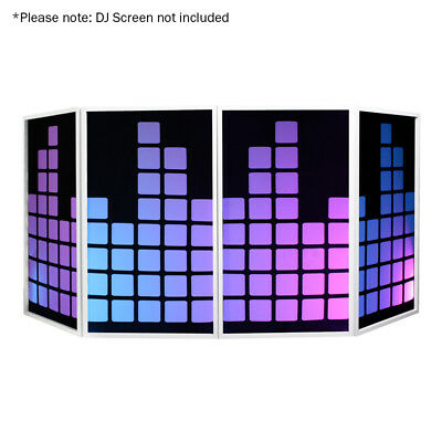 Equinox DJ Screen Lycra Equaliser Effect 4 Pack Disco DJ Booth Cover