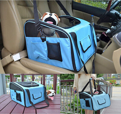 Portable Pet Bag Dog Cat Travel Seat Carrier Case Tent Kennel Crate Belt Booster