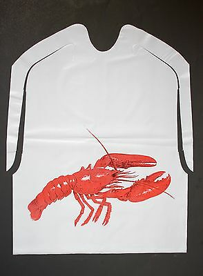 Disposable Lobster Bibs 25 Pack Plastic Free Shipping