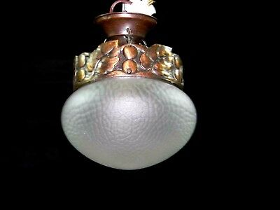 Antique Art Nouveau Pendant Fixture Chandelier Ceiling Lamp Lighting early 1900s