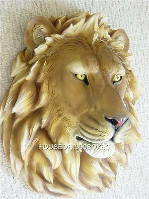 Lion Wall Mount Head Large New Safari Jungle King House Home Office Decor