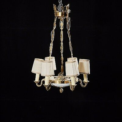 Vintage Empire Style Fixture Chandelier Ceiling Lamp Lighting mid 1900s