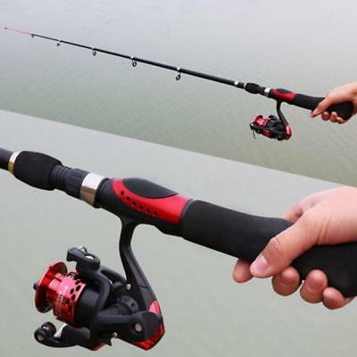 Travel Fishing Rod and Reel Telescopic Sea Fishing Rod Spinning Fishing Reel
