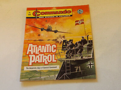 Commando War Comic Number 485,1970 Issue,v Good For Age,47 Years Old,very Rare.