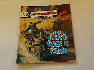 Commando War Comic Number 492,1970 Issue,v Good For Age,47 Years Old,very Rare.