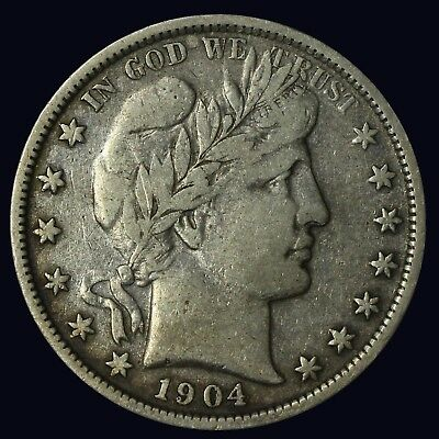 1904-O Barber Half Dollar VF {DO46B}