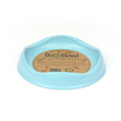 Beco Cat Bowl Eco Friendly Bamboo Food and Water Bowl Blue