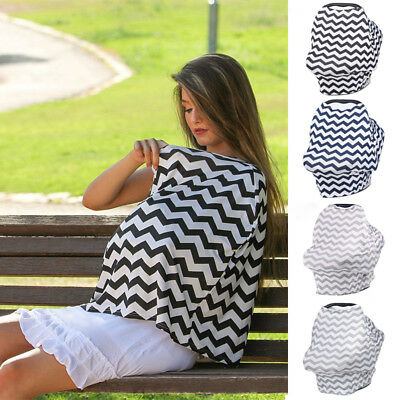 2in1 Breastfeeding Baby Car Seat Canopy Cover Nursing Scarf Cover Up Apron Cloth