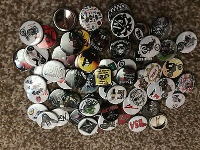 Motorbike X 60 Button Badges 25Mm/1Inch Vintage Biker Cafe Rocker Teddy  Fancy