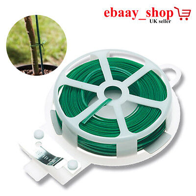 Wire Ties Plastic Twist Plant Ties Coated Garden Plant Tie Roll with Wire Cutter