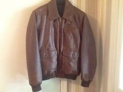Tommy Hilfiger Leather Motorcycle Jacket - Brown/Rust Men's Medium Gently Used