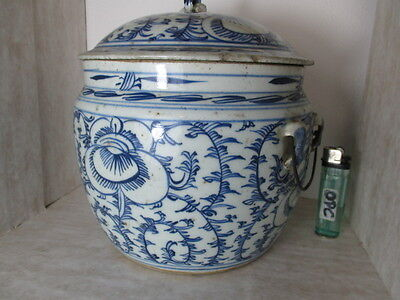 alte Porzellan Dose China ~1850 blue Ming 100% old & original porcelain Jug Bowl