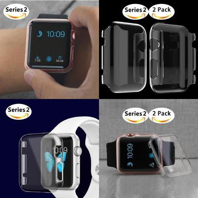 Apple Watch 2 Case Screen Protector 2 PACK iWatch 42mm Slim PC Hard Full Cover