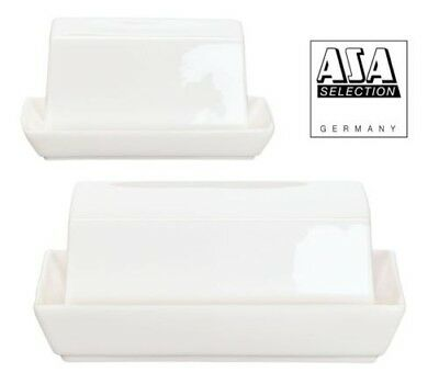 Asa A-Table Small Porcelain White Butter Dish, 2 Sizes