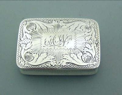 Early Nathaniel Mills Solid Silver Vinaigrette 1828