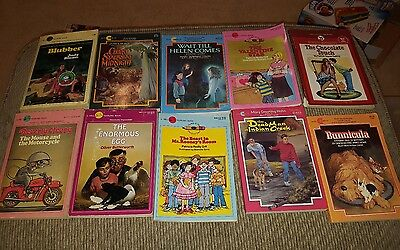 Lot of 10 Vintage Children's Books Mixed Paperbacks Dell Yearling Avon Camelot