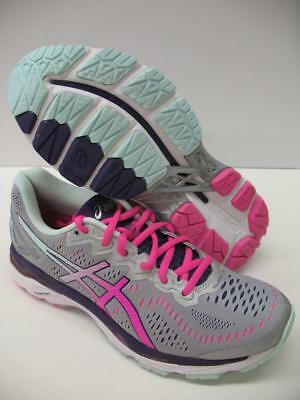 Asics T697N Gel Kayano 23 Running Training Shoes Silver Pink Womens 7.5 WIDE