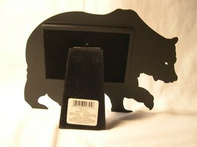 Black Bear Silhouette  Metal  Photo Picture  Frame