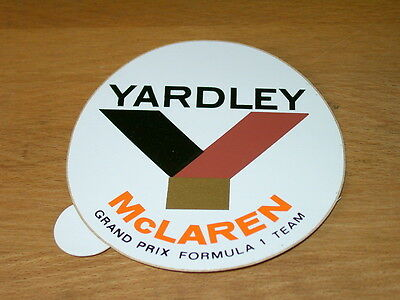 ALTER F1 AUFKLEBER YARDLEY McLAREN GRAND PRIX F1 TEAM