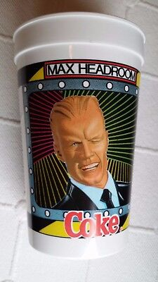 "Vintage 1980's Max Headroom Coke 5 1/2"" Plastic Cup"