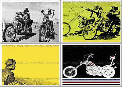 Easy Rider Fridge Magnet 50mm x 35mm